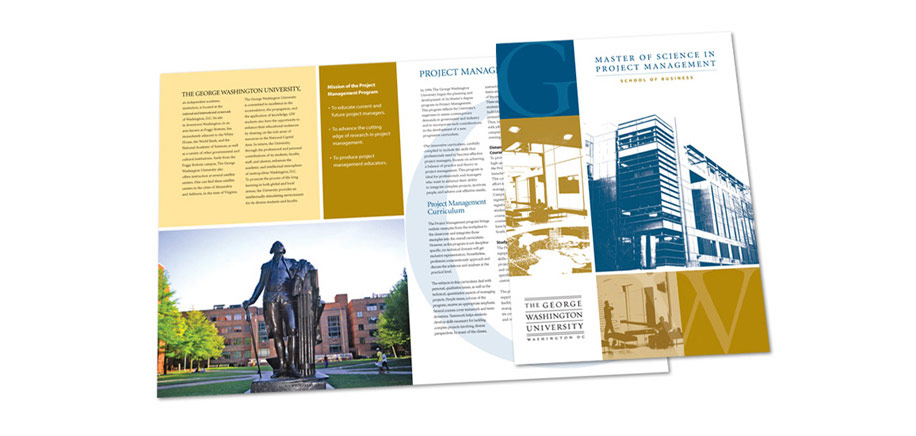 George Washington University Master of Science In Project Management Brochure