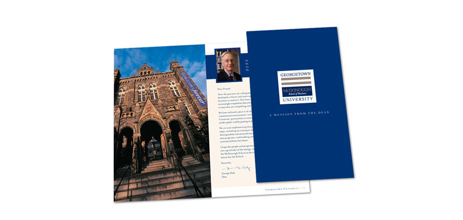 Georgetown University Deans Announcement Brochure