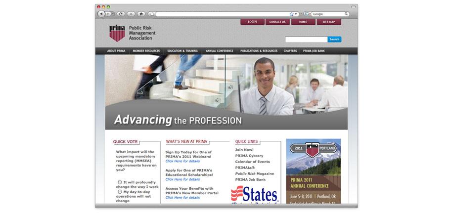 PRIMA Website Redesign