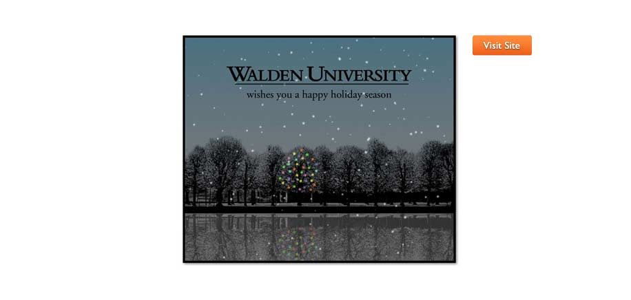Walden University Holiday Card